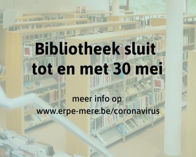 Bibliotheek sluit tot en met 6 juni